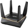 ASUS - RT-AX92U Wireless WiFi 6 AiMesh AX6100Tri-Band Gigabit Router