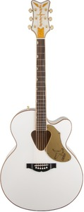 Gretsch G5022CWFE Rancher Falcon Jumbo Acoustic Guitar (White) - Cover