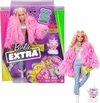 Barbie - Extra Fluffy Pink Jacket Doll 3