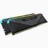 Corsair - VENGEANCE RGB RT 64GB (2 x 32GB) DDR4 DRAM 3200MHz C16 Memory Module Kit – Black