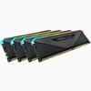 Corsair - VENGEANCE RGB RT 128GB (4 x 32GB) DDR4 DRAM 3200MHz C16 Memory Module Kit – Black