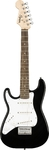 Squier Mini Stratocaster Left Handed Electric Guitar (Black)