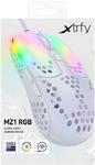 Xtrfy - MZ1 RGB White Rail, Ultra-Light Gaming Mouse, White Transparent