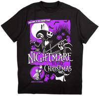 The Nightmare Before Christmas - Welcome to Halloween Town: Unisex T-Shirt, Black (Small) - Cover
