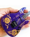 Axe Heaven - Metallica: Kirk Hammett Ouija Purple Sparkle ESP Mini Guitar Replica Collectible