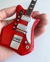 Axe Heaven - Jack White: White Stripes 1964 Montgomery Ward Red Valco Airline Model Res-O-Glass Mini Guitar Replica Collectible