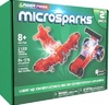 Laser Pegs Microsparks - Vehicles 2 Pack Red Wing Fighter/Micro Dragster