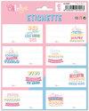 Carouge Blue & Pink Ita School Labels