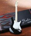 Axe Heaven - Fender Strat Classic Black Finish Miniature Guitar