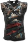 Spiral - Assassins Creed Iv Black Flag, Allover Licensed: Unisex T-Shirt, Black (Large)