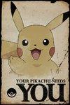 Pokemon - Pikachu Needs You Maxi Poster (61x91,50 cm)