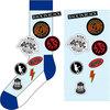 AC/DC - Icons: Unisex Socks, Blue (UK Size 7 - 11)