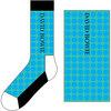 David Bowie - Circles Pattern: Unisex Socks, Blue (UK Size 7 - 11)